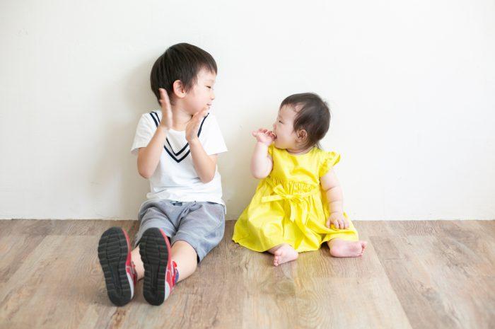 5歳七五三ともうすぐ1歳の兄妹撮影,家族撮影,家族写真,東京スタジオ,兄と妹