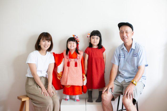 3歳七五三撮影,3歳女子,姉妹撮影,家族で撮影