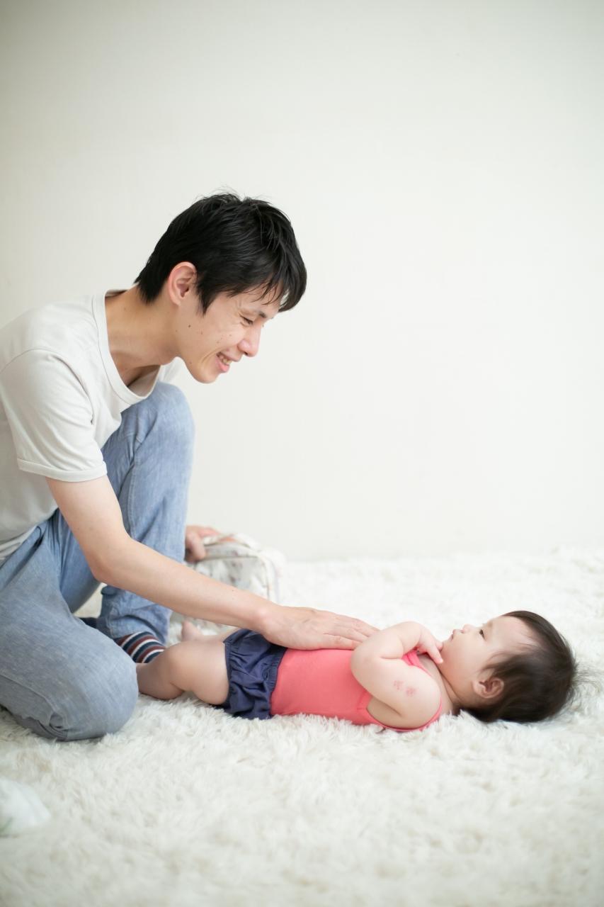 5歳七五三ともうすぐ1歳の兄妹撮影,家族撮影,家族写真,東京スタジオ,パパと赤ちゃん