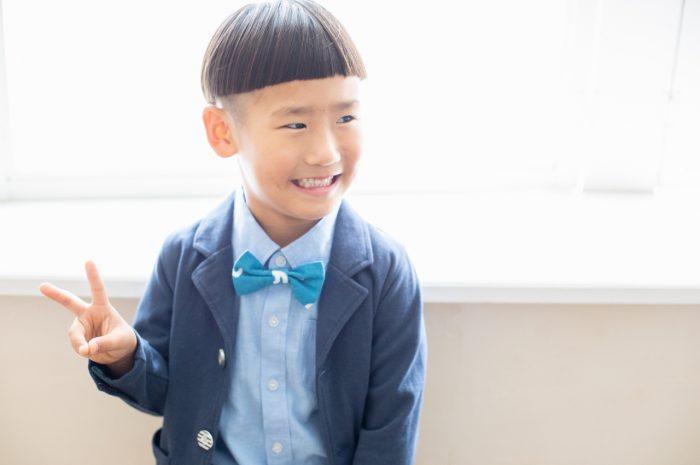 5歳七五三,スタジオ撮影,デニム着物,かっこいい,ジャケット撮影