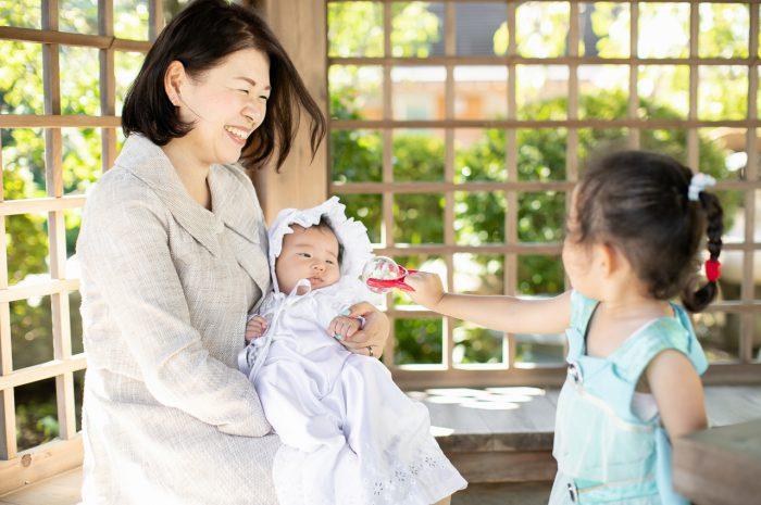 出張撮影,琴平神社,お宮参り,ママと