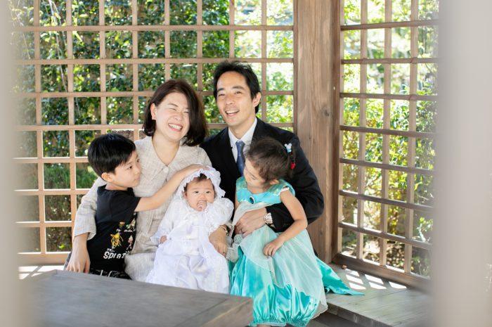 出張撮影,琴平神社,お宮参り,みんな笑顔