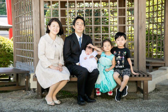 出張撮影,琴平神社,お宮参り,家族写真撮影