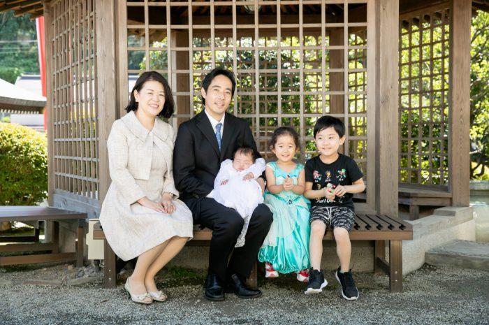 出張撮影,琴平神社,お宮参り,家族写真
