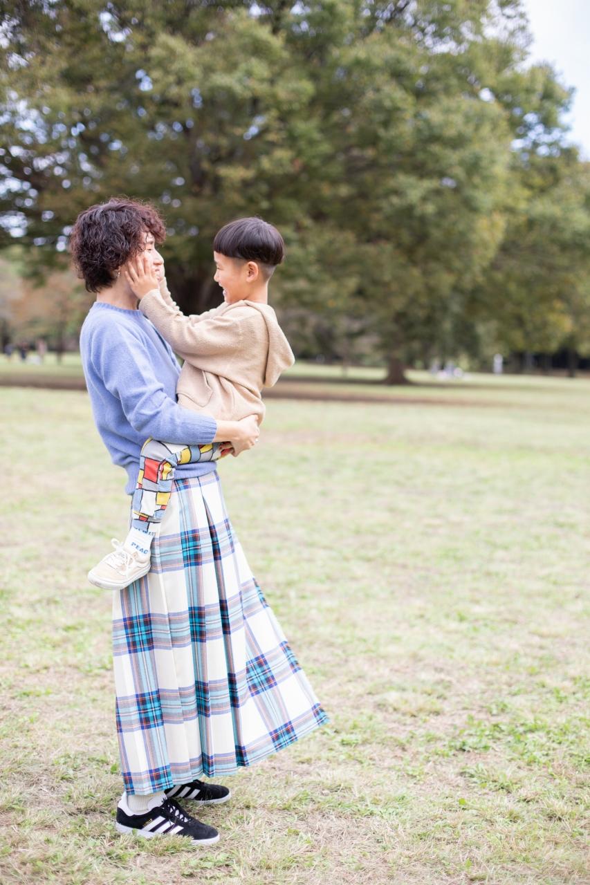 5歳男の子,家族撮影,ママ大好き