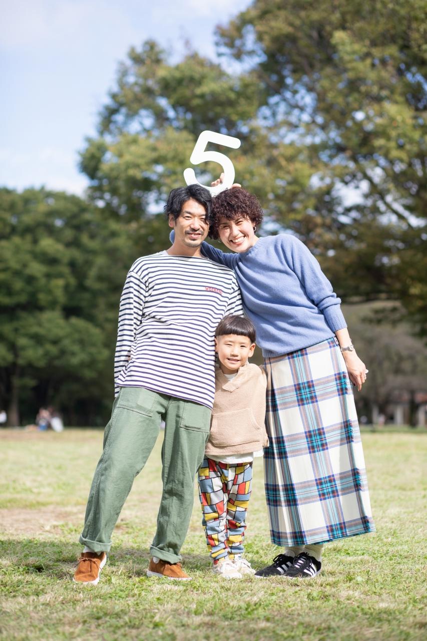 5歳男の子,家族撮影,代々木ロケーション撮影