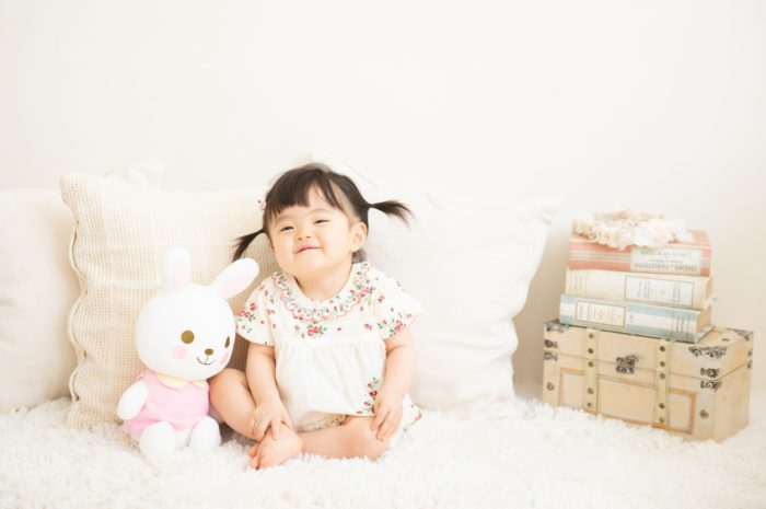 1歳女の子誕生日記念写真