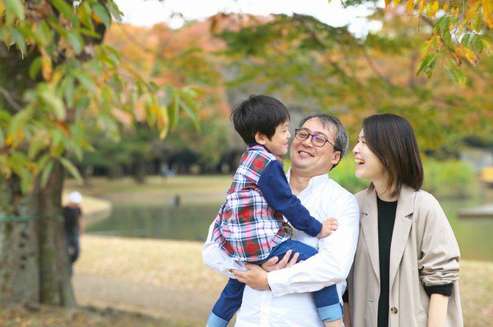 代々木公園家族写真撮影,4歳男の子誕生日記念撮影