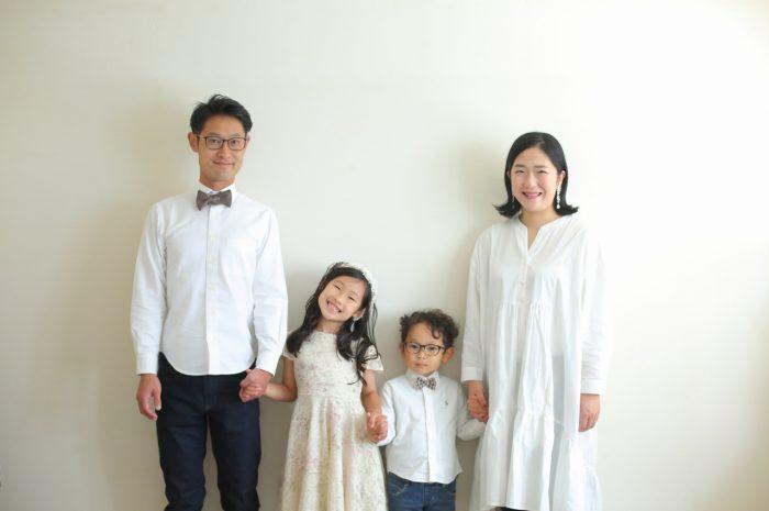 結婚10周年記念,家族写真撮影,4人家族