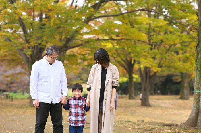 代々木公園家族写真撮影,4歳男の子