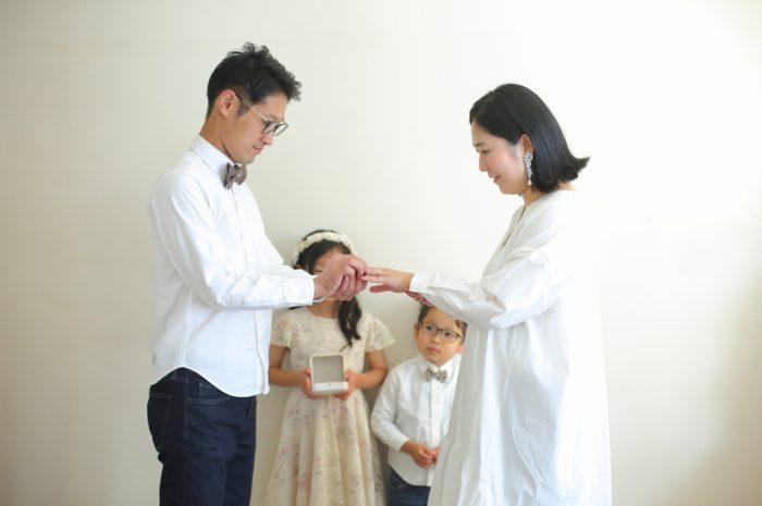 結婚10周年記念,家族写真撮影,指輪プレゼント