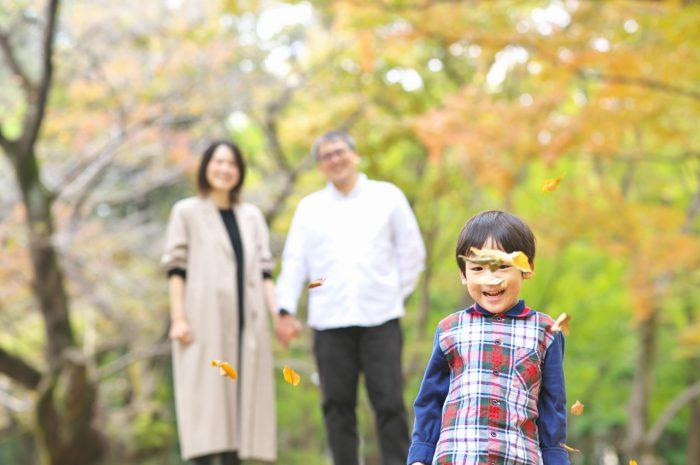 代々木公園家族写真撮影,4歳男の子誕生日記念撮影,いい感じ