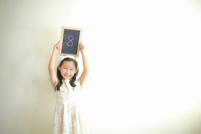 結婚10周年記念,家族写真撮影,8歳女の子誕生日記念