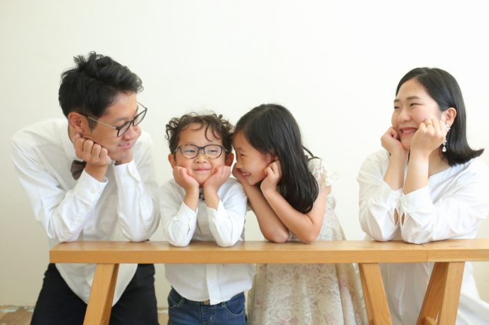 結婚10周年記念,家族写真撮影,仲良し