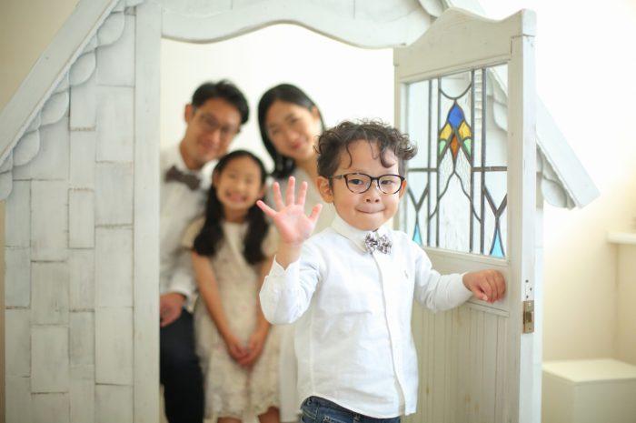 結婚10周年記念,家族写真撮影,5歳男の子,かわいい