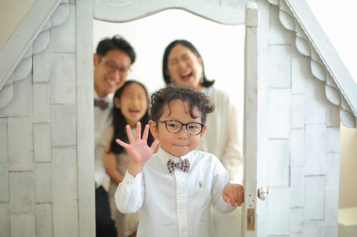結婚10周年記念,家族写真撮影,5歳男の子