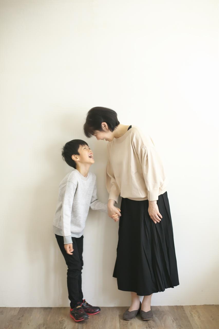 8歳男の子記念撮影