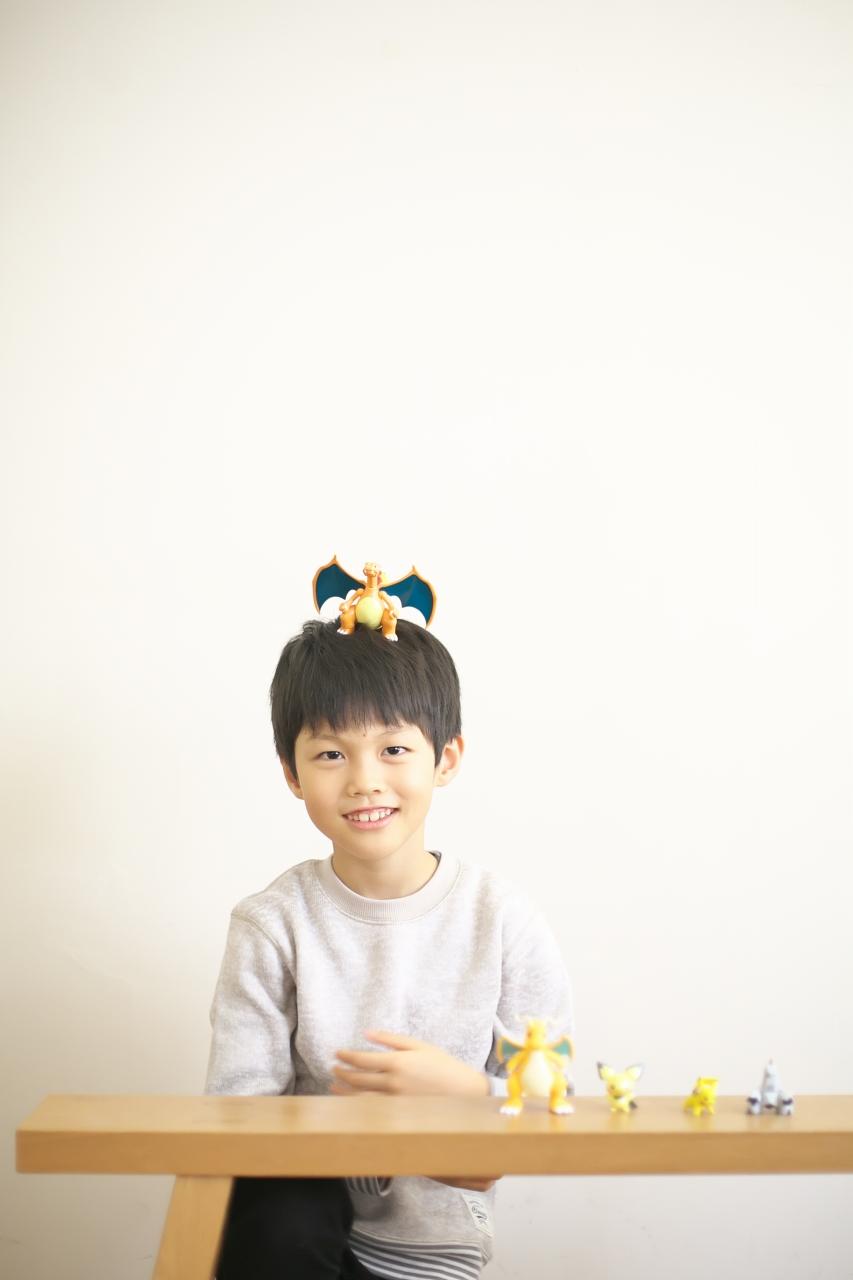 8歳男の子記念撮影,スタジオ,渋谷スタジオ,富ヶ谷スタジオ,8歳誕生日記念,ポケモンだいすき