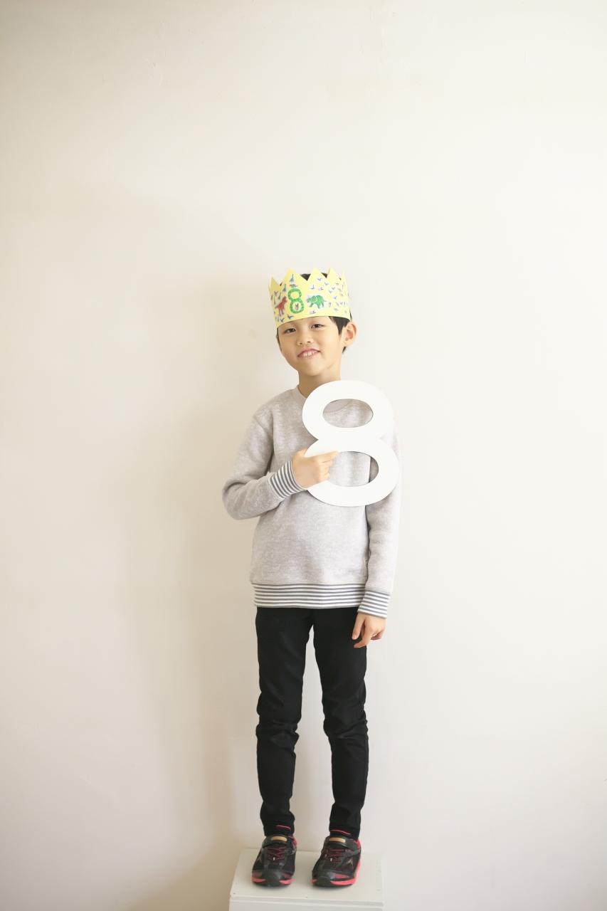 8歳男の子記念撮影,スタジオ,渋谷スタジオ,富ヶ谷スタジオ,おめでとう