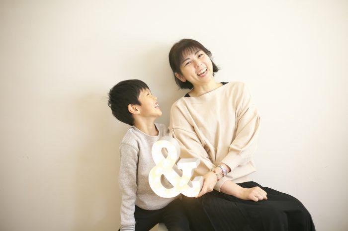 8歳男の子記念撮影,スタジオ,渋谷スタジオ,富ヶ谷スタジオ,仲良し親子