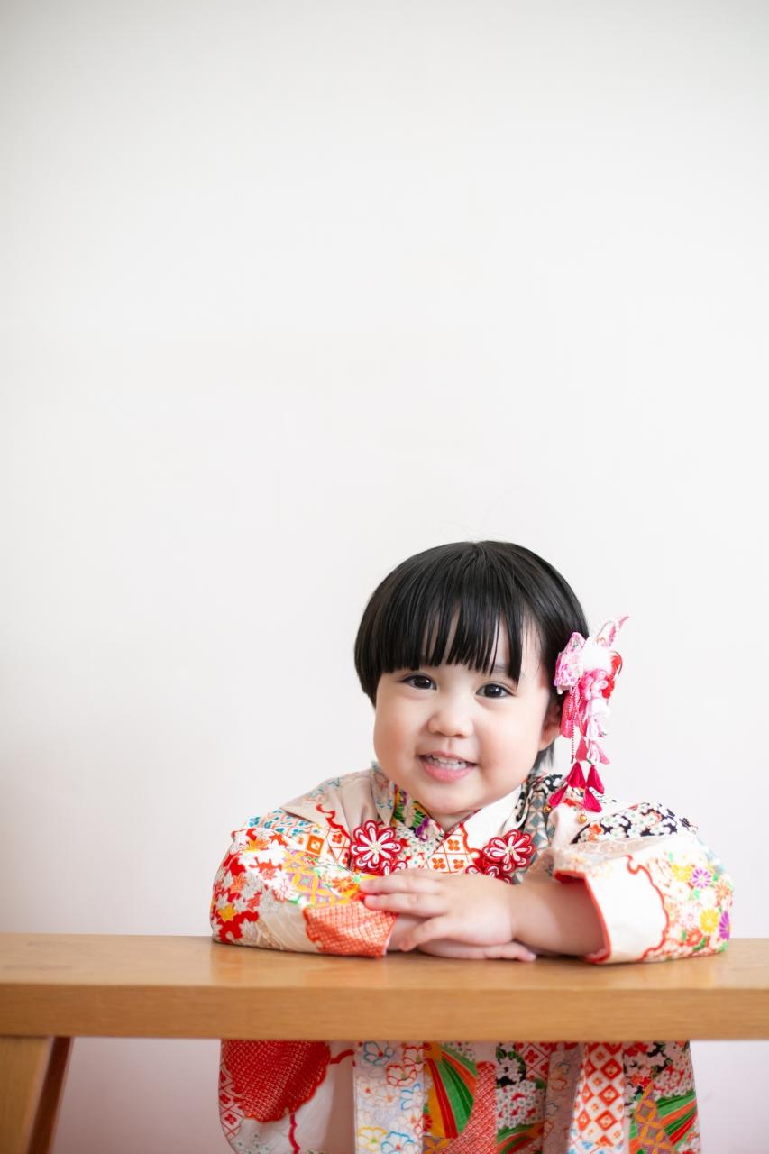 3歳女の子七五三スタジオ撮影
