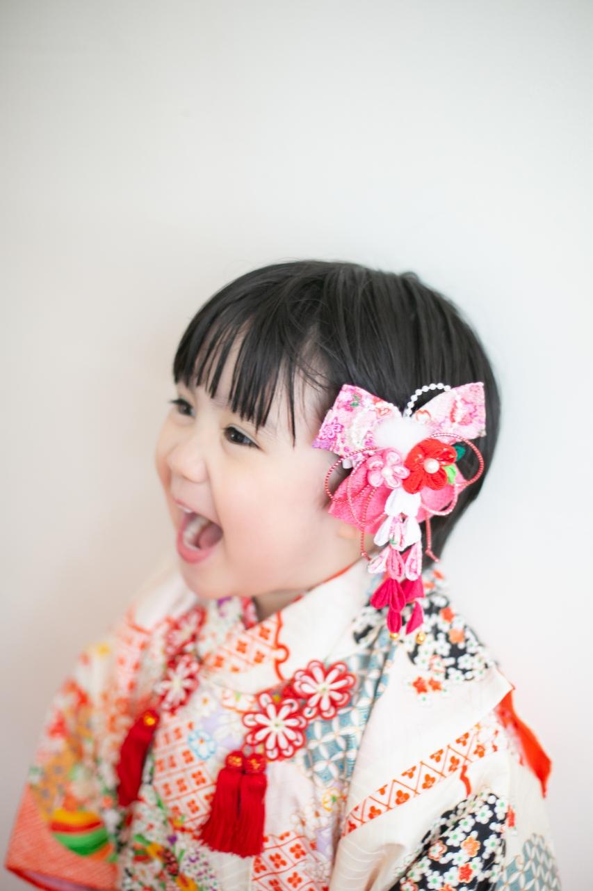 3歳女の子七五三撮影,753,持ち込み着物,3歳さん