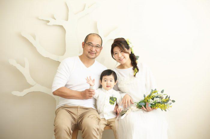 カジュアルフォトウエディング,子供と一緒に結婚写真撮影