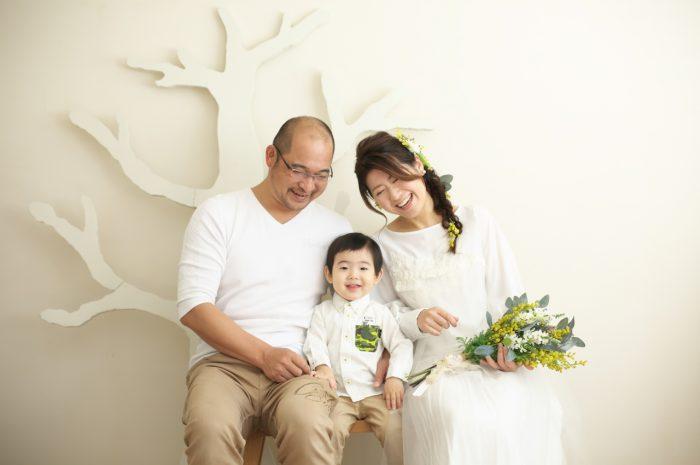 カジュアルフォトウエディング,子供と一緒に結婚写真