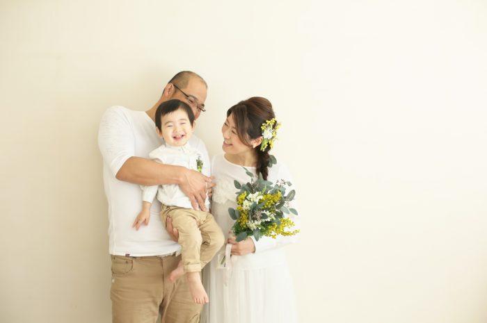 カジュアルフォトウエディング,家族と一緒のカジュアルフォトウエディング