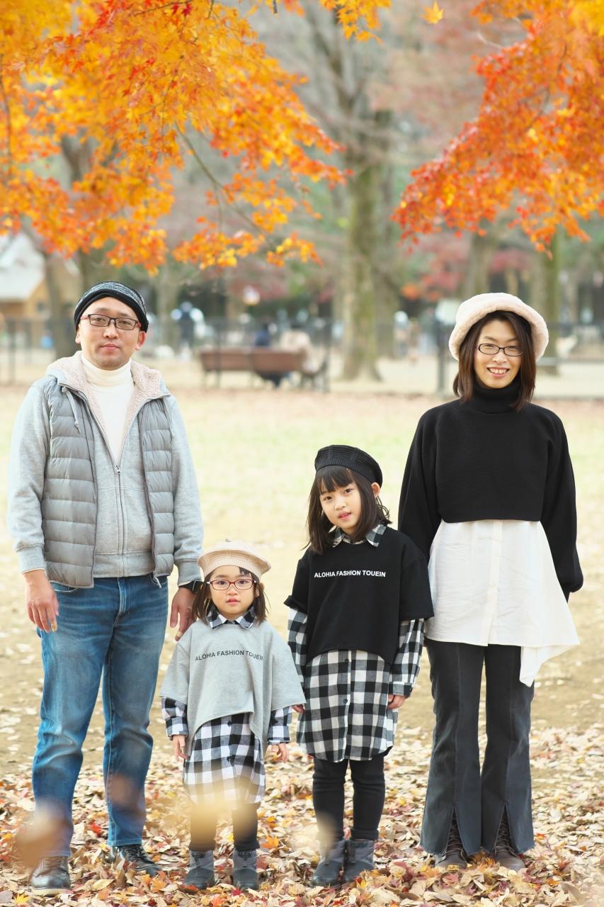 秋の家族写真