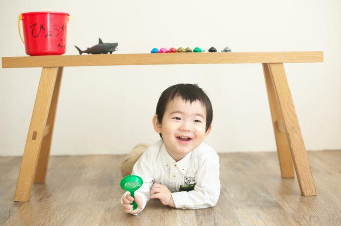 2歳男の子誕生日記念撮影,スタジオ