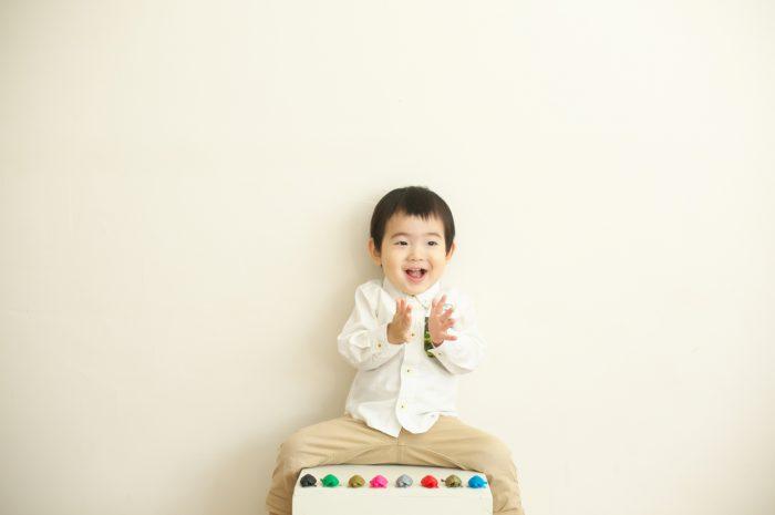 2歳男の子誕生日記念撮影