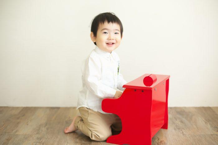 2歳男の子記念写真