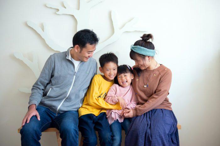 家族写真撮影,渋谷スタジオ,4人家族
