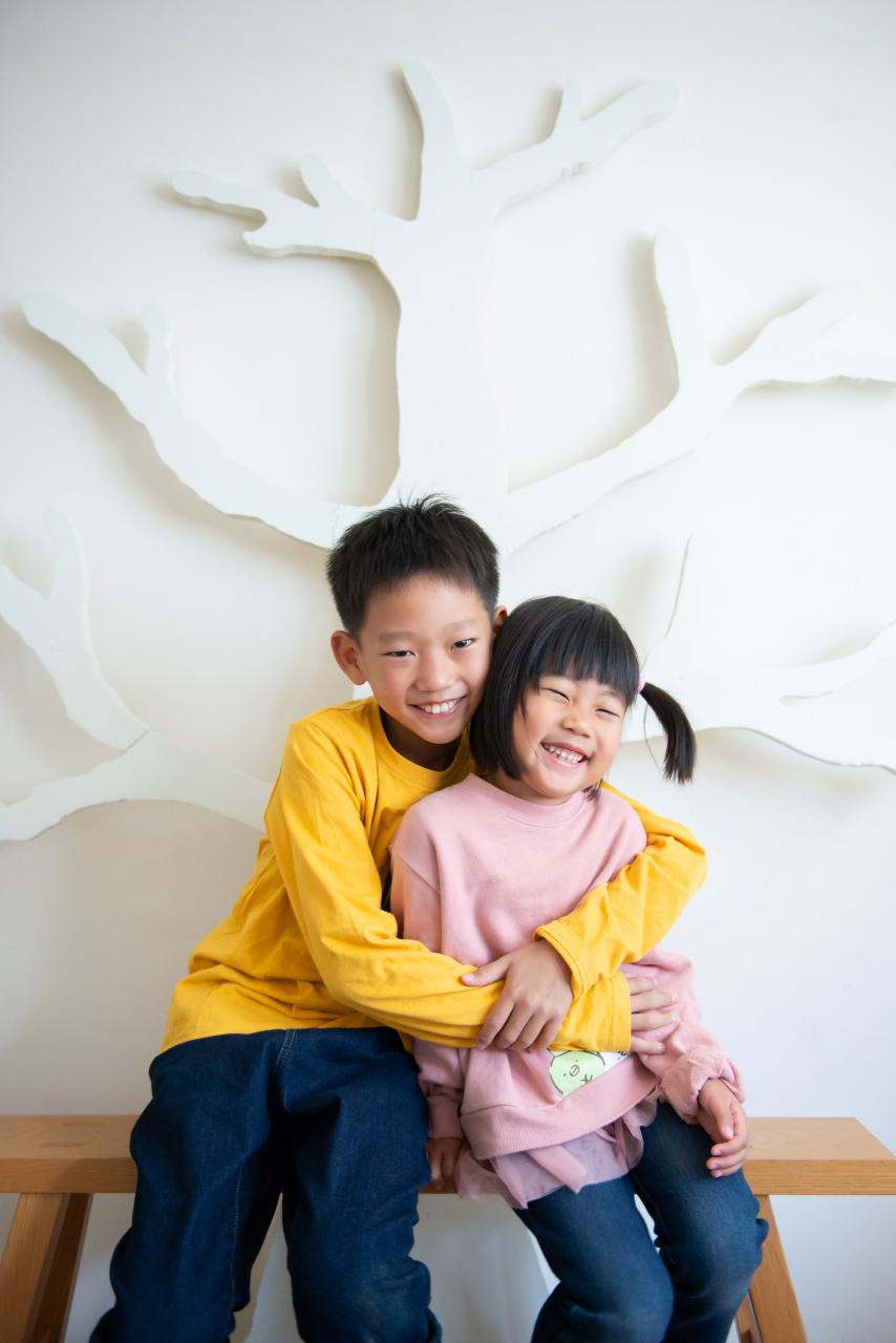家族写真撮影,渋谷スタジオ,仲良し兄妹