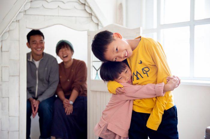 家族写真撮影,渋谷スタジオ,大好きのぎゅ