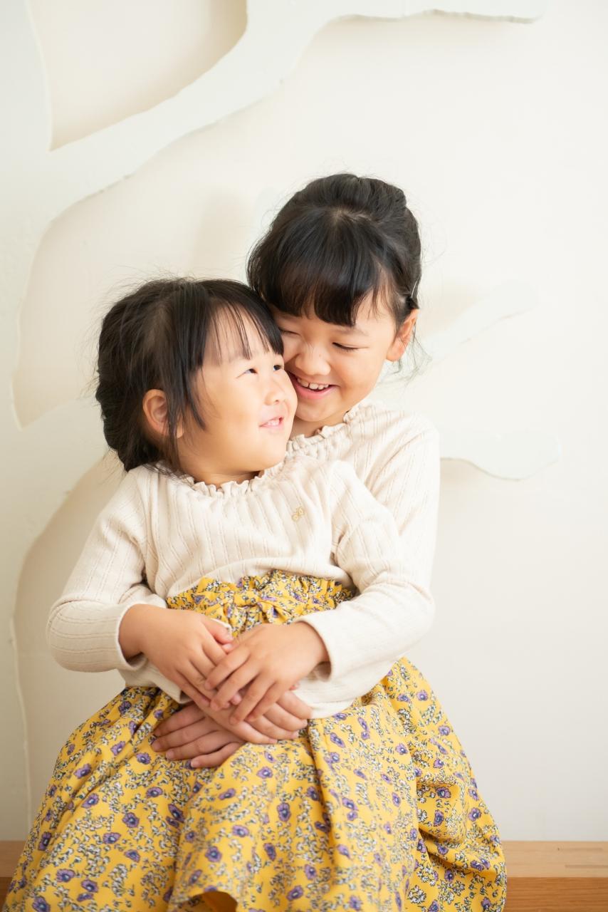 姉妹写真,渋谷スタジオ撮影,姉妹フォト,仲良し