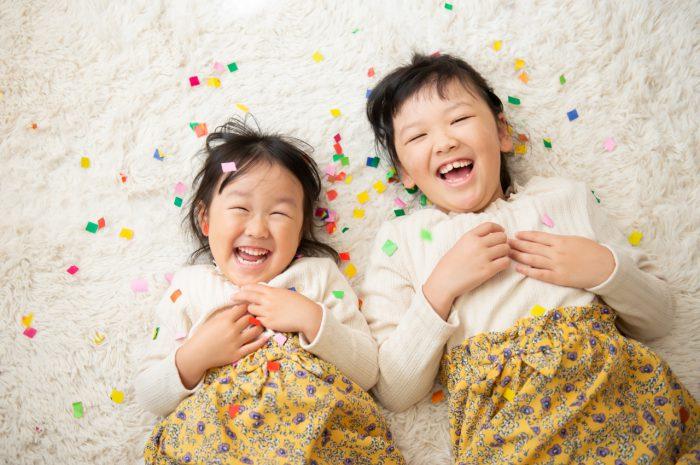 家族写真,渋谷スタジオ撮影,紙吹雪