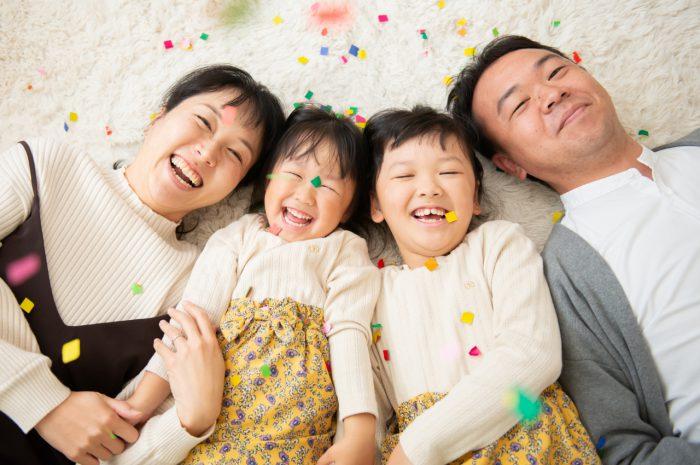 家族写真,スタジオ撮影