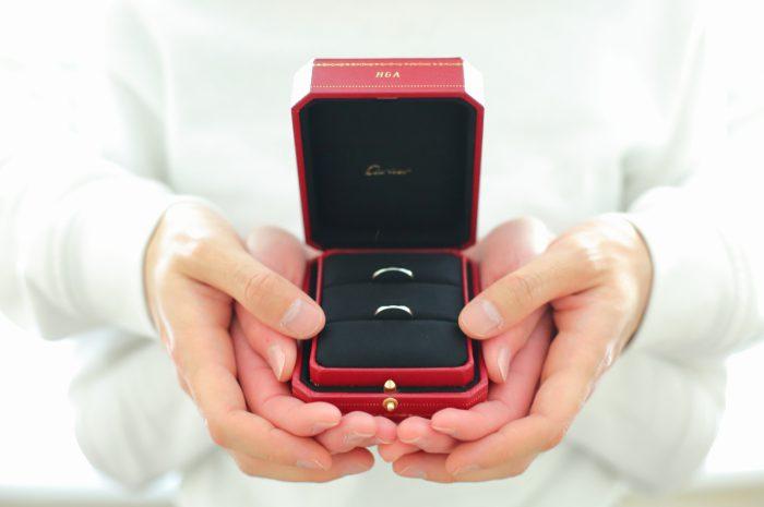 スタジオ撮影,カルティエ指輪,婚約指輪