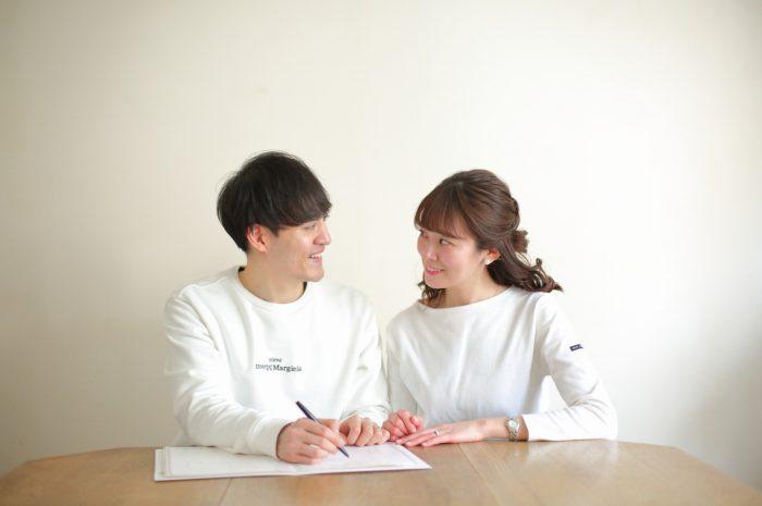 婚姻届け,記入の様子,撮影,スタジオ撮影,渋谷