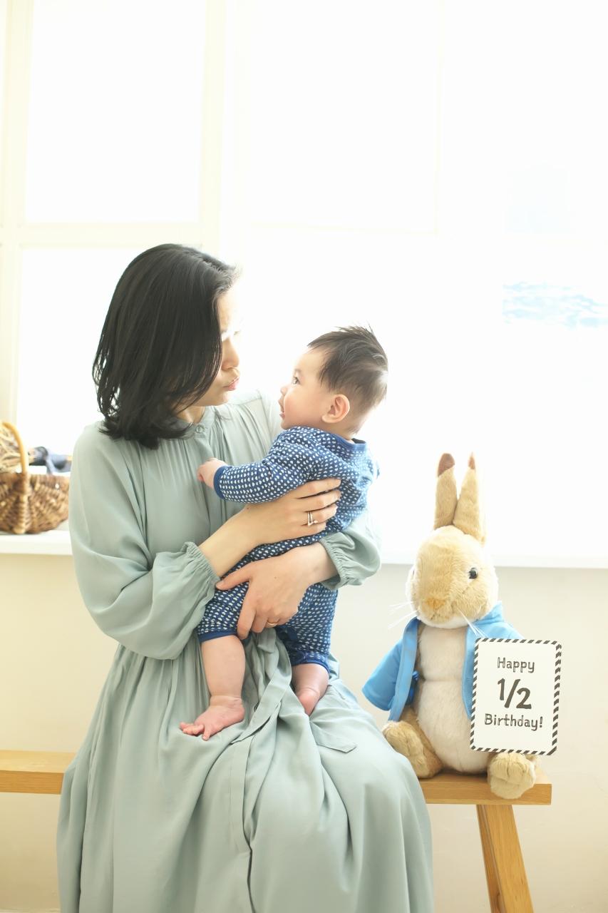 ママと赤ちゃん,2ショット