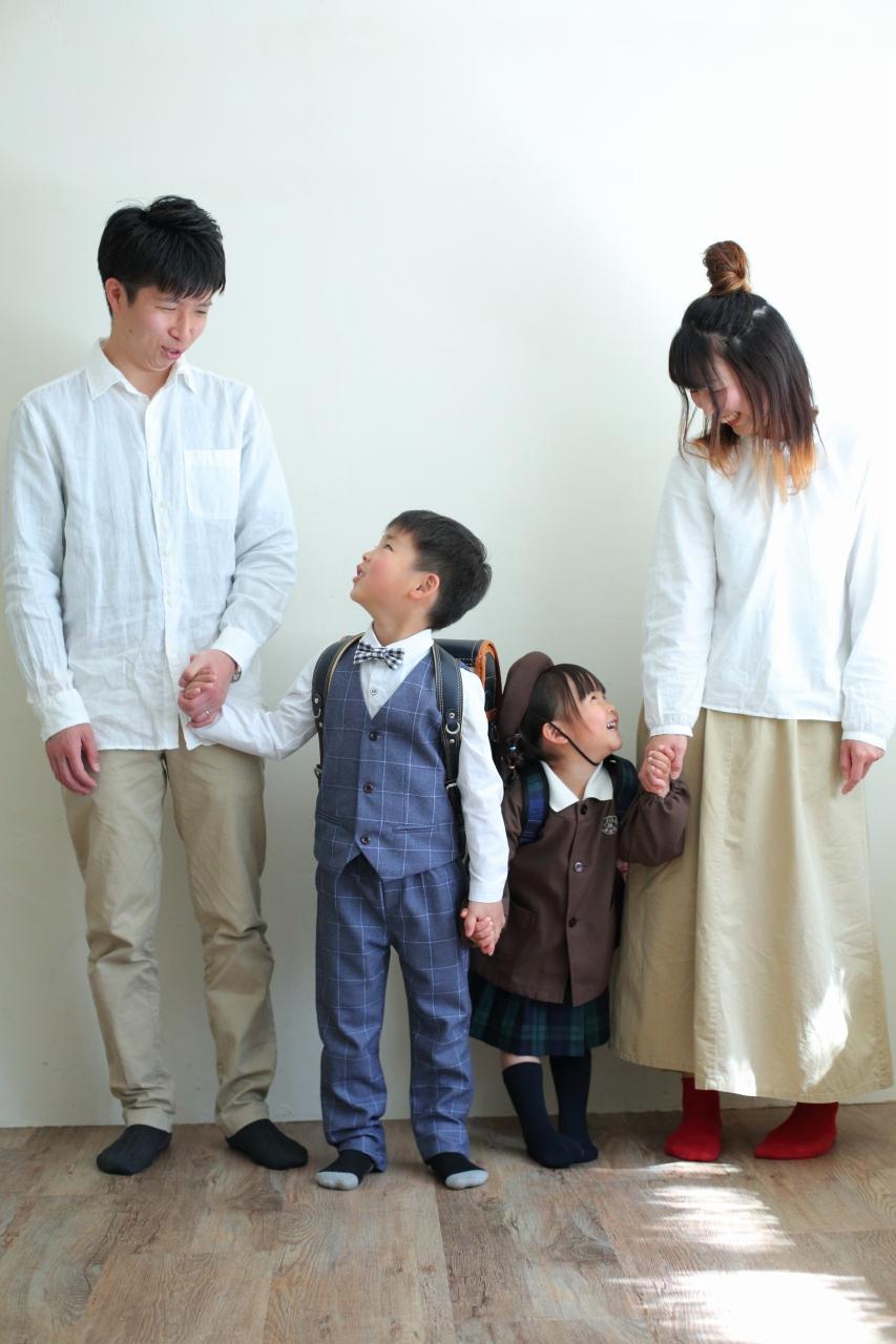 仲良し家族,家族写真,4人家族