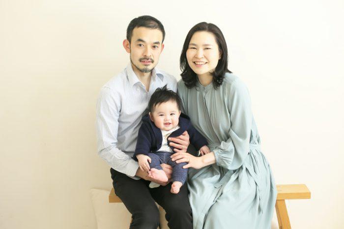 家族写真,ハーフバースディ撮影