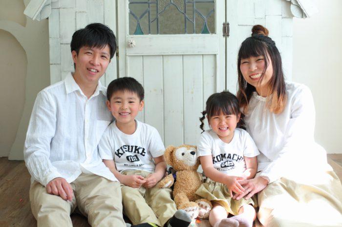 4人家族撮影,渋谷スタジオ