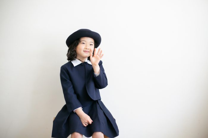 卒園記念写真,スタジオ撮影,幼稚園制服撮影