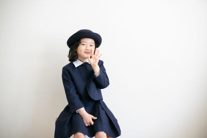 卒園記念写真,スタジオ撮影,幼稚園制服