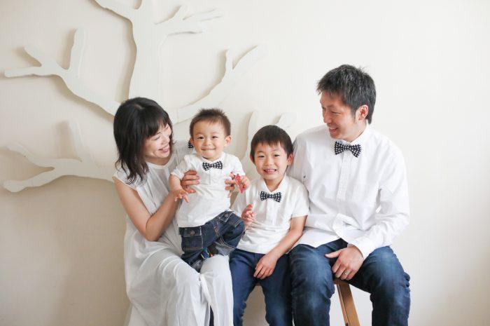 家族写真,記念写真,4人家族,兄弟,家族写真撮影