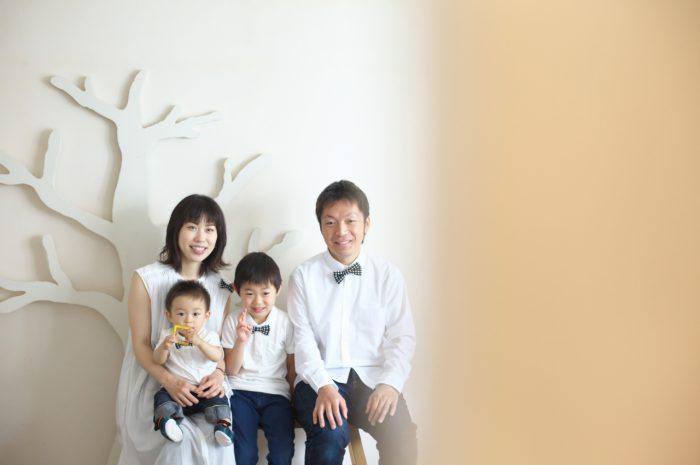 家族写真,記念写真,4人家族