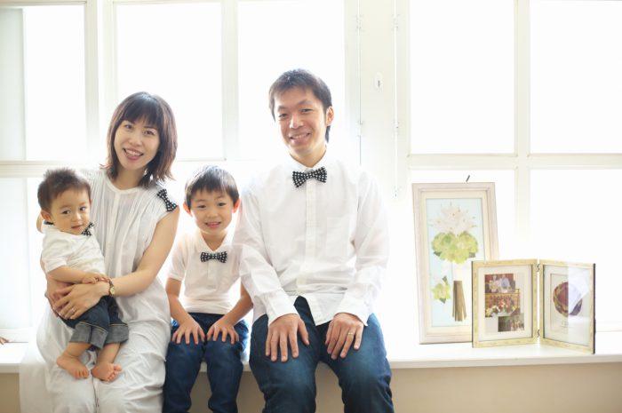 4人家族,写真撮影,家族写真,撮影